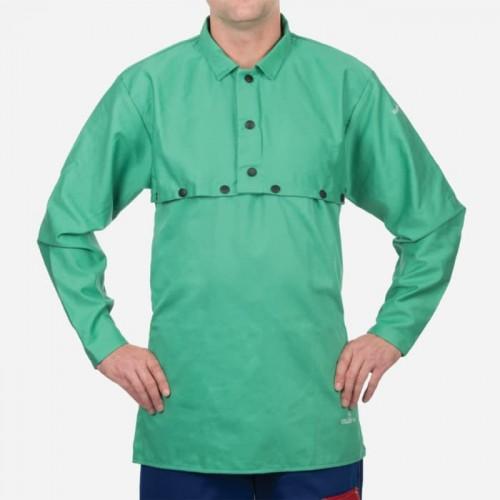 Green Cotton Cape Sleeve , 9oz. Flame Resistant, XXLarge