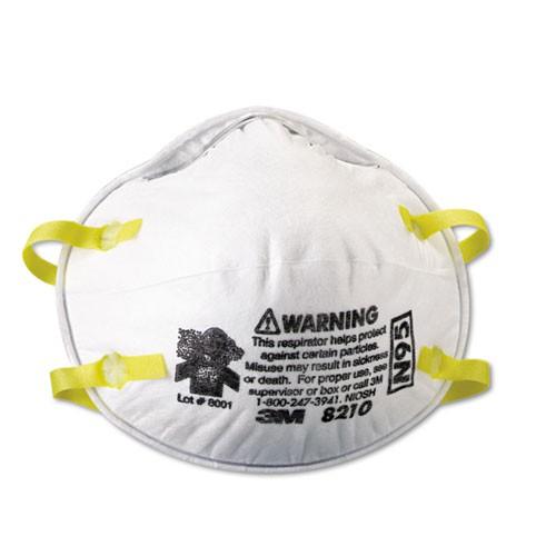3M Particulate Respirator 8210, N95 20 Masks Per Box