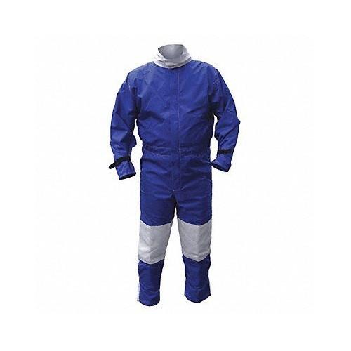 Blue/White Nylon/Cotton ALC Abrasive Blast Suit Medium