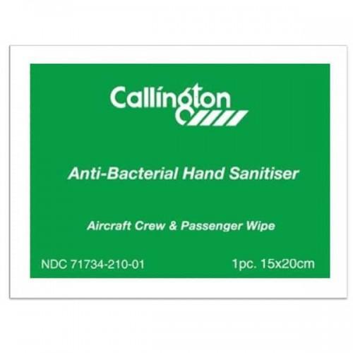 Callington Anti-Bacterial Hand Sanitizer Wipe - (Alcohol Free) - (Individual)