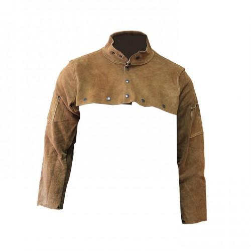 Imported Rust Split Leather Cape Sleeve, Large