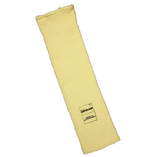 "14"" Yellow 36ga Kevlar Cut Level A3 Tubular Knit Sleeve, Thumb Slot"
