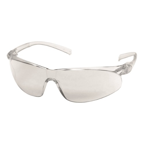 Clear Temple Frame/Clear Indoor/Outdoor Mirror Lens Virtua Sport Glasses