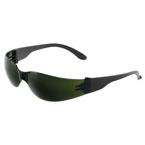 Torrent Welding Green IR Shade 5.0 Lens, Frosted Black Frame Safety Glasses