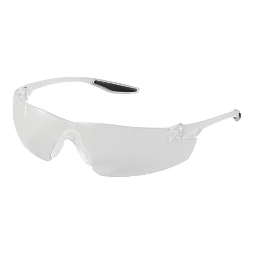 Discus Clear Anti-Fog Lens, Frosted Clear Frame Safety Glasses