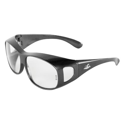 Over-the-Glass Clear Lens, Shiny Pearl Gray Frame Safety Glasses