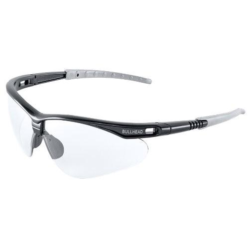Stinger Clear Anti-Fog Lens, Shiny Pearl Gray Frame Safety Glasses