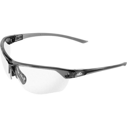 Tetra Clear Anti-Fog Lens, Crystal Gray Frame Safety Glasses