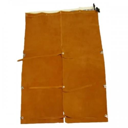"Chicago Protective Apparel 19"" Rust Split Leather Bib"