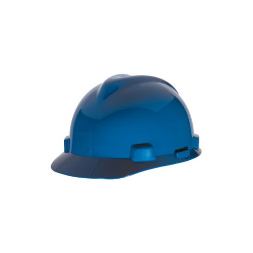 Blue HDPE Standard Super-V Fas-Trac III Slotted Hard Cap , Hard Hat