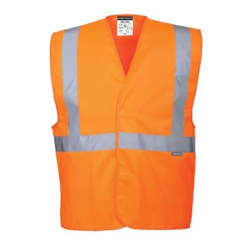 C472 - Hi-Vis One Band & Brace Vest, R/Fit