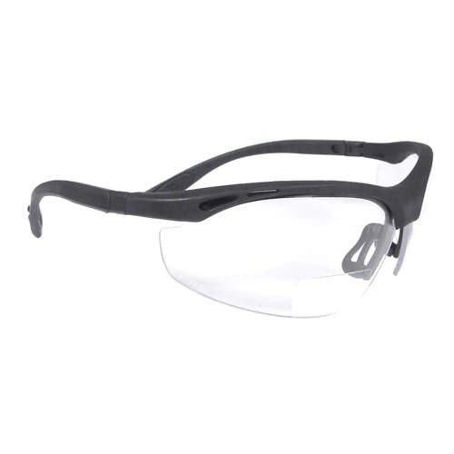 Clear 2.5 Lens Cheaters Bi-Focal Safety Glasses