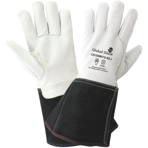 Cut Resistant Grain Goatskin Mig/Tig Welding Gloves, 8 (Medium)