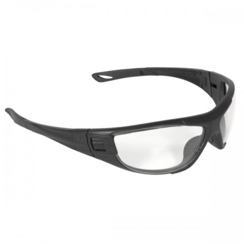 Radians Cuatro™ 4-in-1 Foam Lined Safety Glasses, Black Frame / Clear Lens