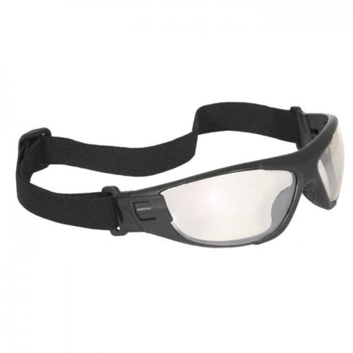 Radians Cuatro™ 4-in-1 Foam Lined Safety Glasses, Black Frame / I/O Lens