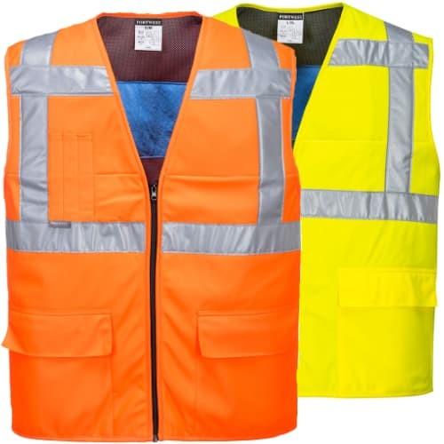 CV02 - High Vis Cooling Vest, R/Fit