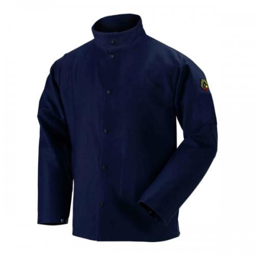 """Navy Blue TruGuard 200 FR Cotton Welding Jacket - 30"""" Medium"""