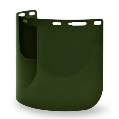 Weld Shade 5 Molded Cylinder Lexan Face Shield Super Hard Coat