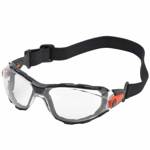 Elvex Go-Specs Goggles-Black Foam Lined Frame-Clear Anti-Fog Lens (Bundle of 3)