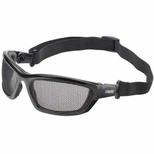 Elvex Airspecs Goggles-Black Foam Lined Frame-Steel Mesh Lens (Bundle of 3)
