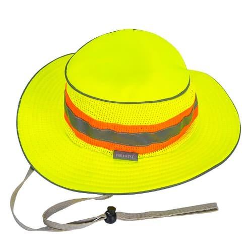 Hi-Vis Ranger Hat, Yellow  R/Fit