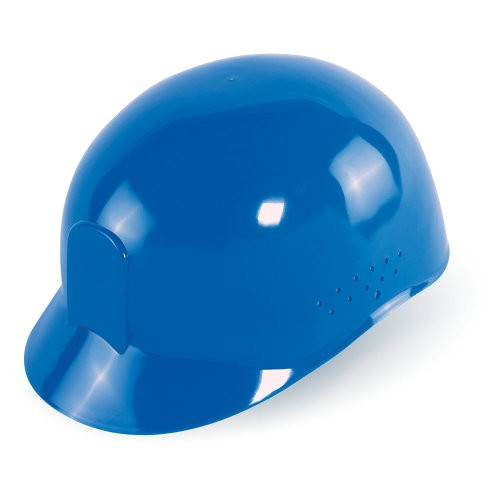 Bullhead Safety - Blue Vented Bump Cap With Four-Point Slide Lock Suspension