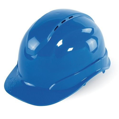 Bullhead Safety - Blue Vented Cap Style Hard Hat With Six-Point Ratchet Suspension