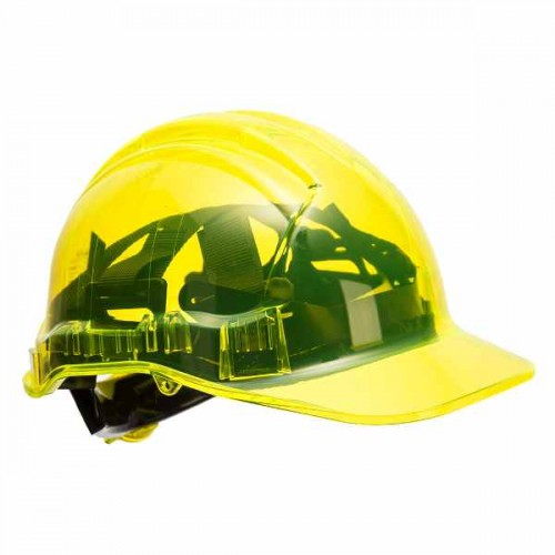 Portwest PV64 Translucent Peak View Hard Hat, Variety of Colors