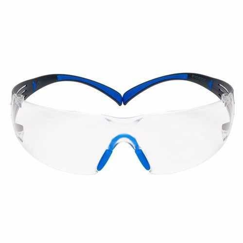 3M SecureFit Safety Glasses SF401SGAF-BLU, Blue/Gray, Clear Scotchgard Anti-fog Lens, 20 Each/Case