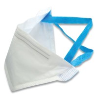 N95 Disposable Respirator, Pouch Style, 0-3 Micron Particles, Universal Size