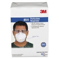 3M Particulate Respirator 8511, N95 10 Masks Per Box