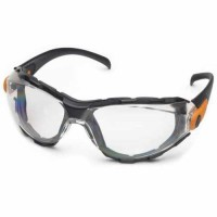 Elvex Go-Specs Safety Glasses - Black Foam Lined Frame-Clear Anti-Fog Lens (Bundle of 3)