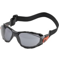 Elvex Go-Specs Goggles-Black Foam Lined Frame-Grey Anti-Fog Lens