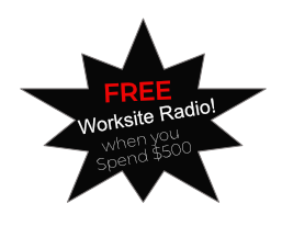 FREE Radio with $500 order!