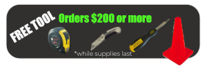 FREE TOOL orders of $100 or more!