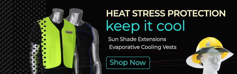 Heat Stress Protection Products, Evaporative Cooling Vest, Sun Shade Extensions for Hard Hats