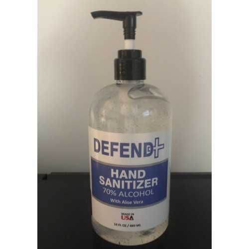 DEFEND+  ALCOHOL HAND SANITIZER 16 OZ
