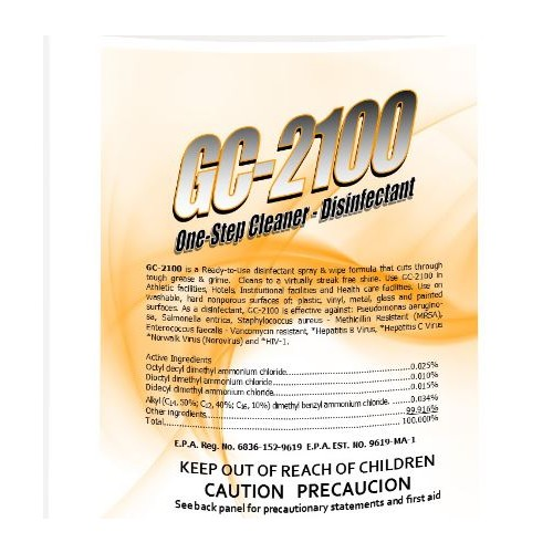 GC2100, disinfectant cleaner. Effective on COVID-19