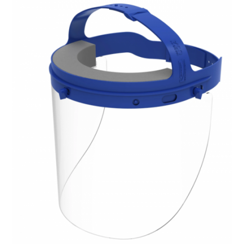 Fully Assembled Full Length Face Shield with Head Gear, 16.5 x 10.25 x 11