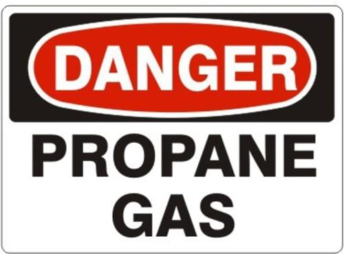 "Sign ""Danger Propane"" 7x10 Aluminum"