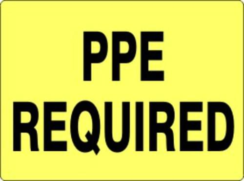 """Sign """"PPE Required"""" 7 x 10 Aluminum"""