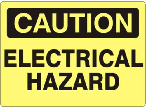 "Sign ""Caution Electrical Hazard"" 7 x 10 Aluminum"