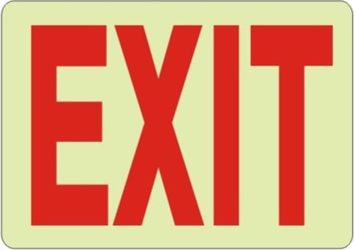 "Exit Sign 7"" x 10"" Aluminum"