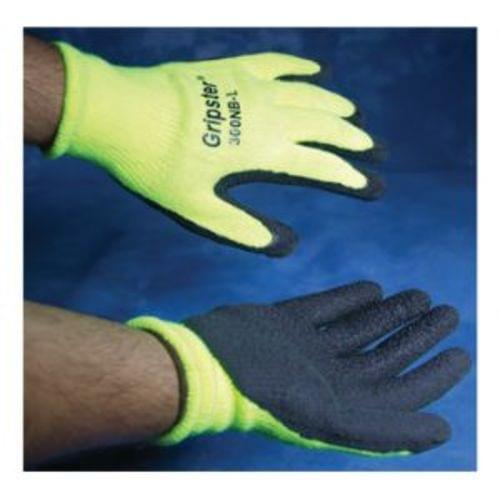 Yellow Rubber Coated Cotton Gloves