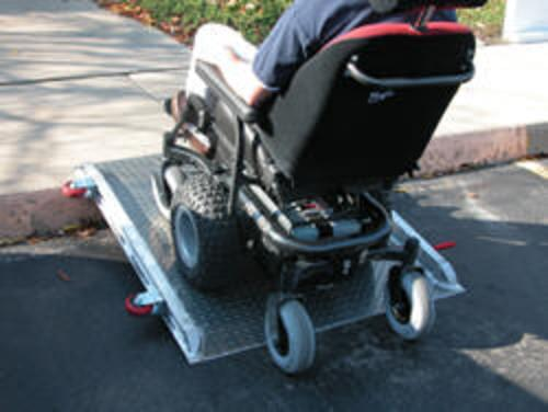 Roll-O-Wheel Curb Wheelchair Ramp 48 In