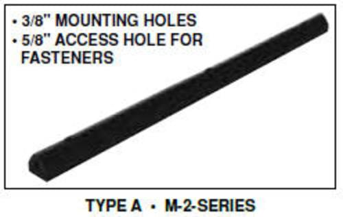 Extruded Rubber Fender Bumper 36X2X1.75