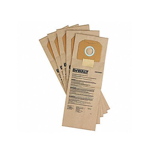 DEWALT Bag, Paper Bag, Paper, For Use With Mfr. No. DWV012, PK 5