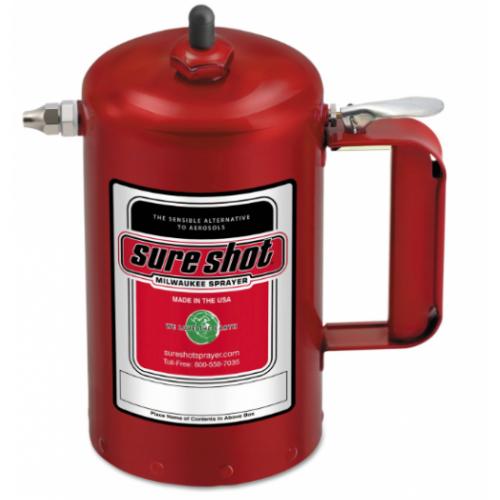 Milwaukee Sprayer 1000R Enameled Steel Sprayer Model-A Red, 1 quart