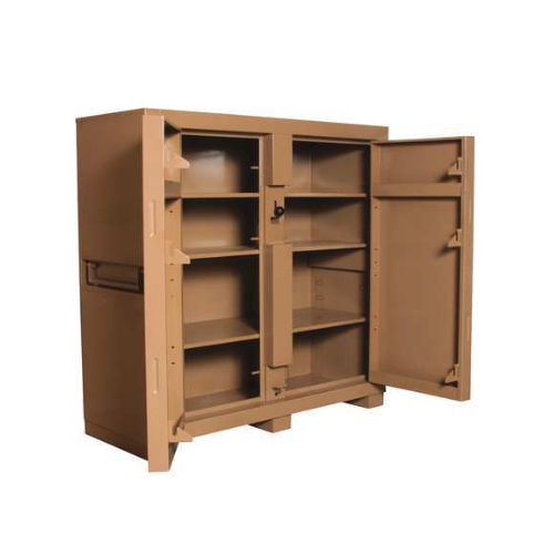 """Jobmaster Jobsite Storage Cabinet/Tool Box, 60""""H x 60""""W x 24""""D, Tan"""