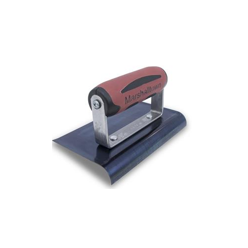 6 X 4 Blue Steel Edger-Curved Ends 1/2R, 5/8L-DuraSoft Handle